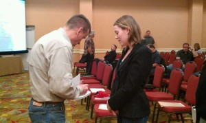 Caitlin attends educational seminar on self defense.