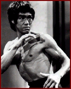 "Bruce Lee on the set of ""Enter the Dragon."""